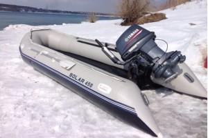 Лодка ПВХ Солар-450 МК светло-серый