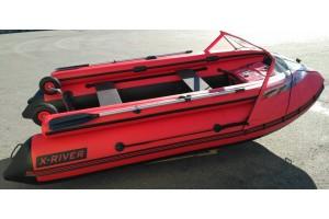 Надувная лодка НДНД AGENT 390 с Фальшбортом и Носовым тентом