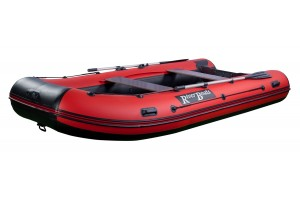 Лодка ПВХ RiverBoats RB с жестким дном — 430  (Киль) красный, оранжевый, камуфляж