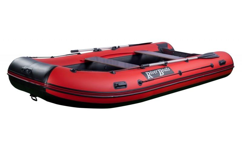 Лодка ПВХ RiverBoats RB с жестким дном — 390 (Киль) красный