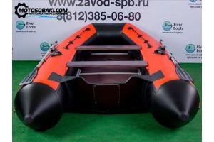 Лодка ПВХ RiverBoats RB с жестким дном — 390 (Киль) оранжевый