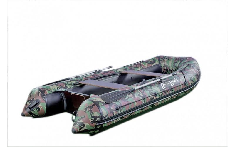 Лодка ПВХ RiverBoats RB с жестким дном — 370 (Киль) камуфляж