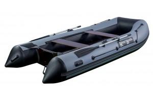 Лодка ПВХ RiverBoats RB с жестким дном — 390 (Киль) черно-серый