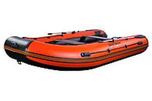 Лодка ПВХ RiverBoats RB с жестким дном — 370 (Киль) оранжевый