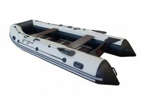 Лодка ПВХ RiverBoats RB с жестким дном — 390 (Киль) черно-белый