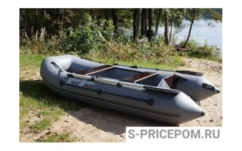 Лодка ПВХ RiverBoats RB с жестким дном — 370 (Киль) серый