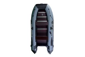 Лодка ПВХ RiverBoats RB с жестким дном — 370 (Киль) черно-серый