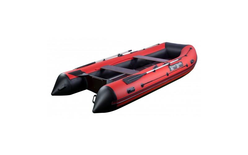 Лодка ПВХ RiverBoats RB с жестким дном — 370 (Киль) красный