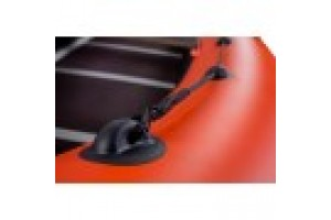 Лодка ПВХ RiverBoats RB с жестким дном — 410 (Киль) оранжевый