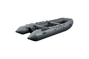 Лодка ПВХ RiverBoats RB с жестким дном - 490  (Киль) серый