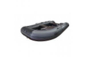 Лодка ПВХ RiverBoats RB с жестким дном — 430  (Киль) серый, белый