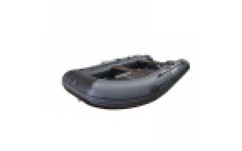 Лодка ПВХ RiverBoats RB с жестким дном — 370 (Киль)  серый, белый