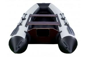 Лодка ПВХ RiverBoats RB с жестким дном — 410 (Киль) черно-белый
