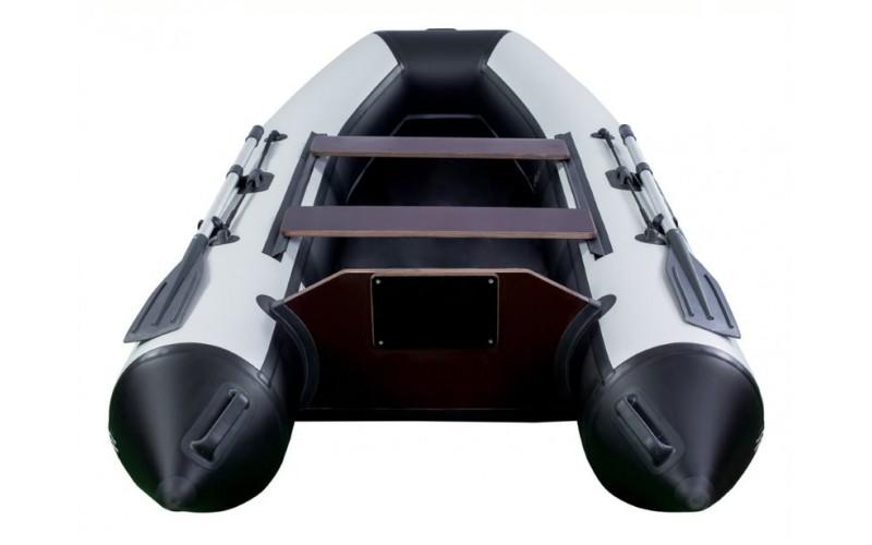 Лодка ПВХ RiverBoats RB с жестким дном — 370 (Киль) черно-белый