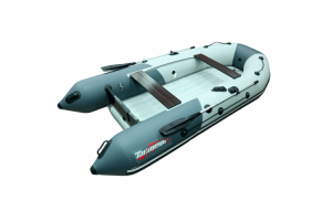 Лодка ПВХ Таймень NX 3600 НДНД PRO светло-серый/графит