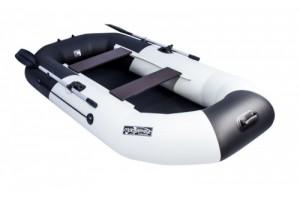 "Лодка ПВХ Таймень NX 270 ""Комби"" светло-серый/черный"
