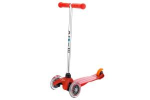 Mini Micro Красный (прозрачные колеса)