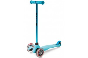 Mini Micro Sporty Candy Голубой (прозрачные колеса)