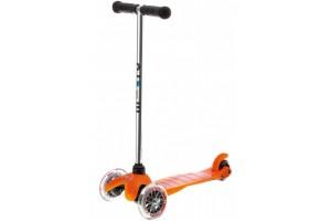 Mini Micro Оранжевый (прозрачные колеса)