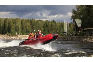 Моторная лодка Антей-420 красный