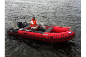 Моторная лодка ПВХ Титан-480 красный