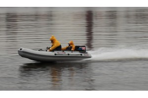 Моторная лодка ПВХ Сапсан-380 серый